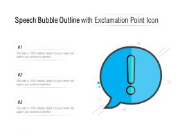 Speech Bubble Outline With Exclamation Point Icon
