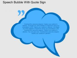 Speech Bubble With Quote Sign Flat Powerpoint Design