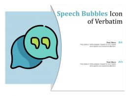 Speech Bubbles Icon Of Verbatim
