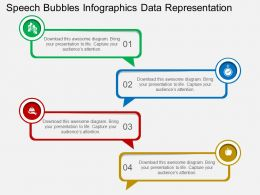 Speech Bubbles Infographics Data Representation Flat Powerpoint Design
