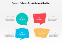 Speech Callouts For Audience Attention