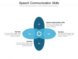 Speech Communication Skills Ppt Powerpoint Presentation Styles Gallery Cpb
