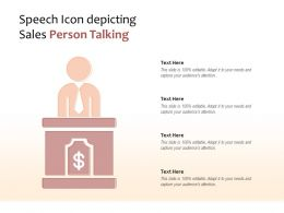 Speech Icon Depicting Sales Person Talking