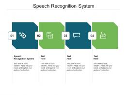 Speech Recognition System Ppt Powerpoint Presentation Gallery Maker Cpb