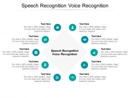 Speech Recognition Voice Recognition Ppt Powerpoint Presentation Inspiration Format Cpb