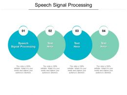 Speech Signal Processing Ppt Powerpoint Presentation Inspiration Show Cpb