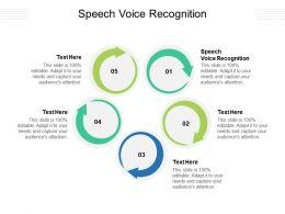 Speech Voice Recognition Ppt Powerpoint Presentation Portfolio Files Cpb