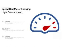 Speed Dial Meter Showing High Pressure Icon