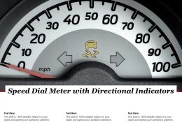 Speed Dial Meter With Directional Indicators