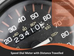 Speed Dial Meter With Distance Travelled