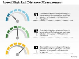 Speed Height And Distance Measurement Flat Powerpoint Design