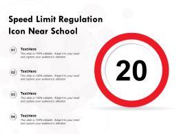 Speed Limit Regulation Icon Near School