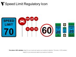Speed Limit Regulatory Icon Powerpoint Show