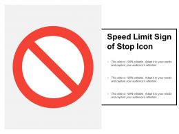 Speed Limit Sign Of Stop Icon