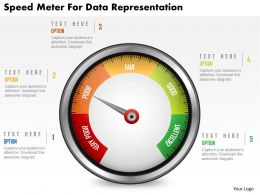 Speed Meter For Data Representation Powerpoint Template