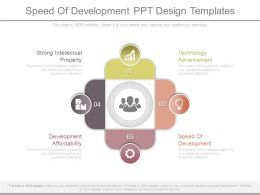 Speed Of Development Ppt Design Templates