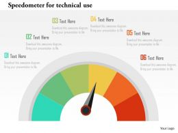 Speedometer For Technical Use Flat Powerpoint Design
