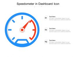 Speedometer In Dashboard Icon
