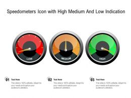 Speedometers Icon With High Medium And Low Indication