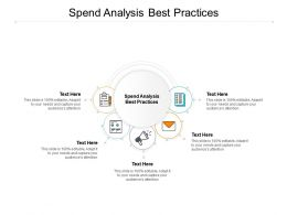 Spend Analysis Best Practices Ppt Powerpoint Presentation Outline Template Cpb