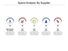 Spend Analysis By Supplier Ppt Powerpoint Presentation Portfolio Smartart Cpb