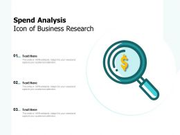 Spend Analysis Icon Of Business Research
