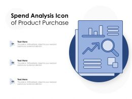 Spend Analysis Icon Of Product Purchase