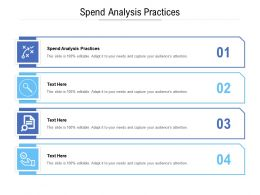 Spend Analysis Practices Ppt Powerpoint Presentation Professional Good Cpb