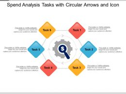 Spend Analysis Tasks With Circular Arrows And Icon