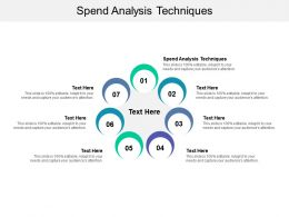 Spend Analysis Techniques Ppt Powerpoint Presentation Model Design Ideas Cpb