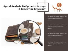 Spend Analysis To Optimize Savings And Improving Efficiency