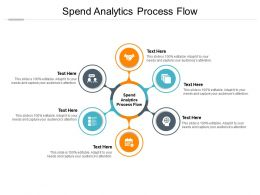 Spend Analytics Process Flow Ppt Powerpoint Presentation Slides Guidelines Cpb