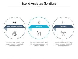 Spend Analytics Solutions Ppt Powerpoint Presentation Styles Graphics Pictures Cpb