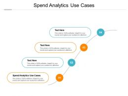 Spend Analytics Use Cases Ppt Powerpoint Presentation Show Files Cpb