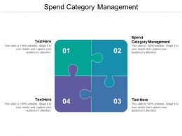 Spend Category Management Ppt Powerpoint Presentation Pictures Guidelines Cpb