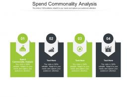 Spend Commonality Analysis Ppt Powerpoint Presentation Ideas Example File Cpb