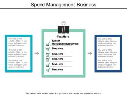 Spend Management Business Ppt Powerpoint Presentation Icon Design Ideas Cpb