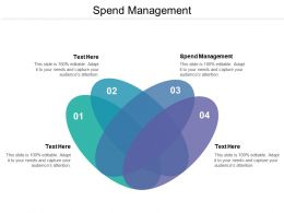 Spend Management Ppt Powerpoint Presentation Pictures Ideas Cpb
