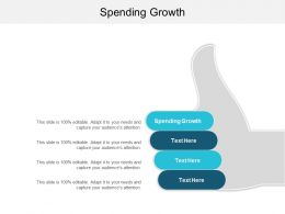 Spending Growth Ppt Powerpoint Presentation Gallery Influencers Cpb