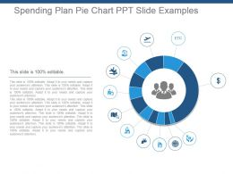Spending Plan Pie Chart Ppt Slide Examples