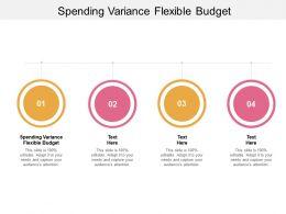 Spending Variance Flexible Budget Ppt Powerpoint Presentation Model Ideas Cpb
