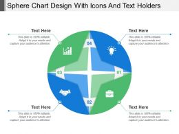 Sphere Chart Design With Icons And Text Holders