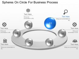 Spheres On Circle For Business Process Powerpoint Template Slide