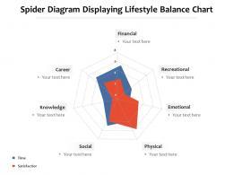 Spider Diagram Displaying Lifestyle Balance Chart