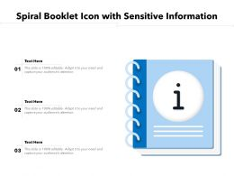 Spiral Booklet Icon With Sensitive Information