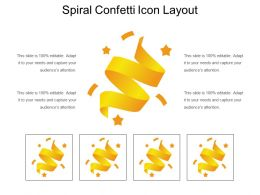 Spiral Confetti Icon Layout