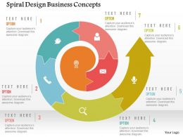 Spiral Design Business Concepts Flat Powerpoint Design