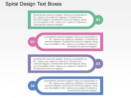 Spiral Design Text Boxes Flat Powerpoint Design
