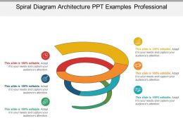 Spiral Diagram Architecture Ppt Examples Professional
