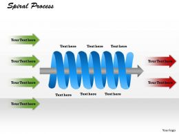 Spiral Process Powerpoint Template Slide